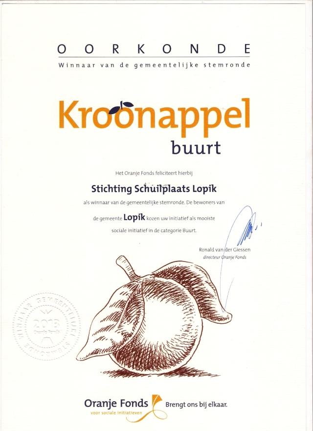 Oorkonde Kroonappels